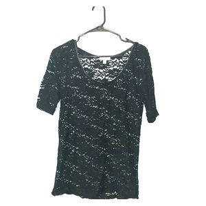 Cotton On -- Floral Lace Tee